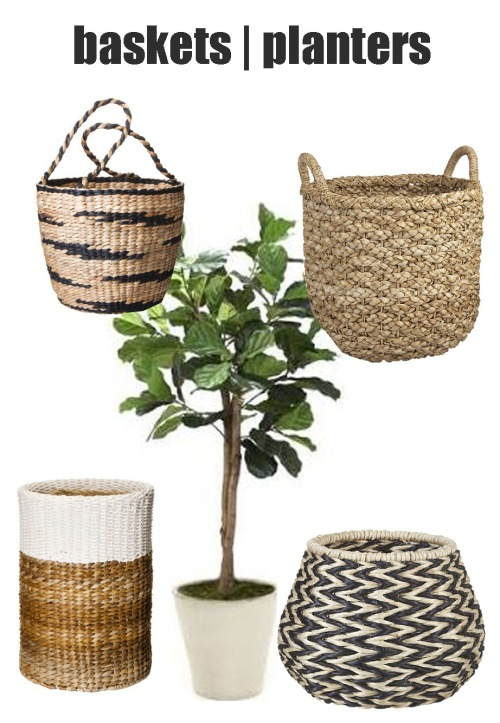 baskets and planters